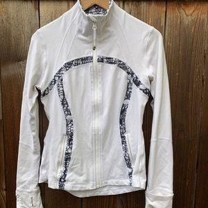 Lululemon jacket, white, size 8
